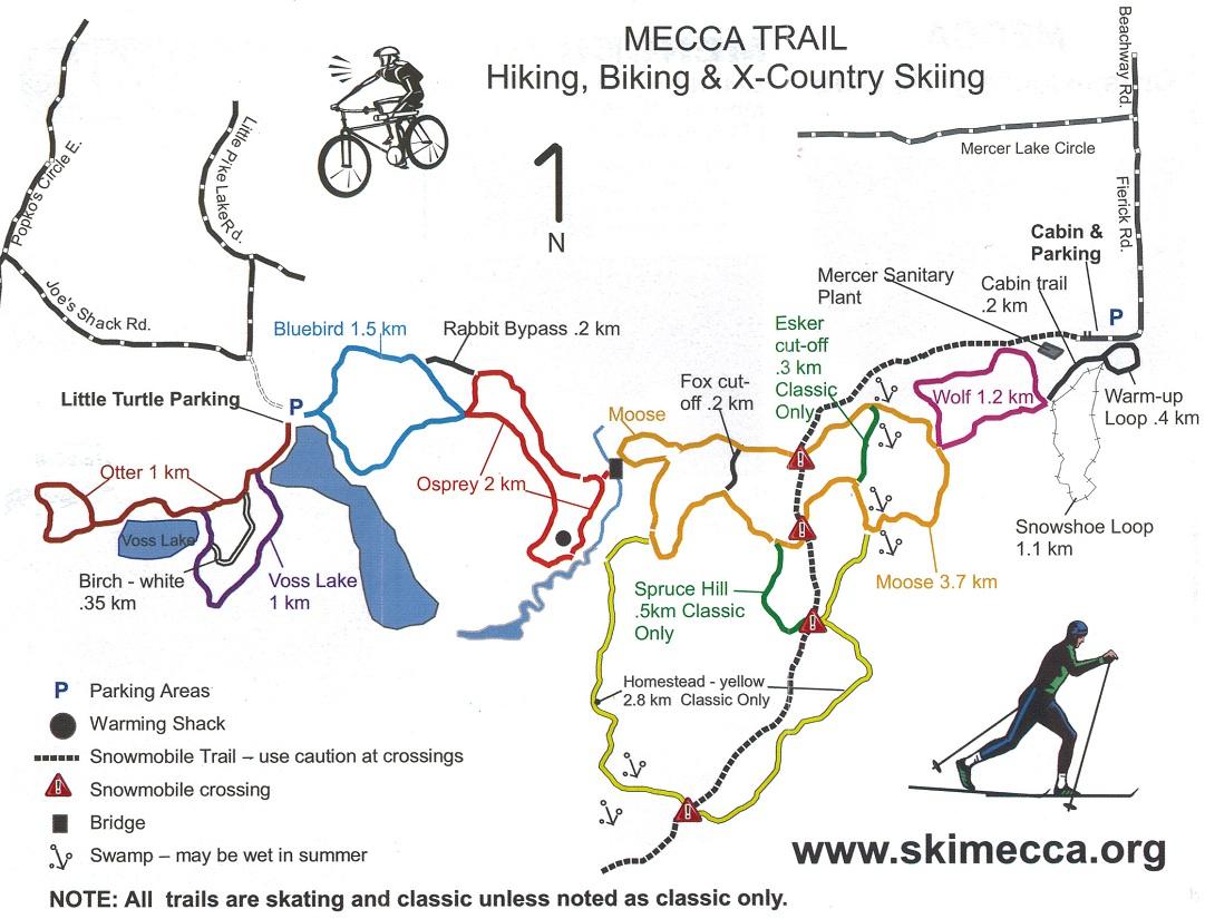 MECCA Ski Trails Wisconsin Trail Guide