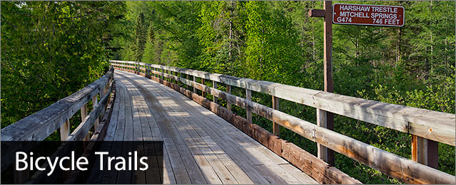 Bicycle trails, image of Bearskin State Trail