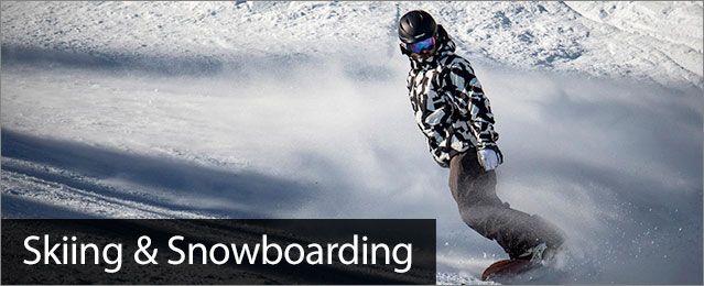 Downhill Skiing, image of A dude snowboarding