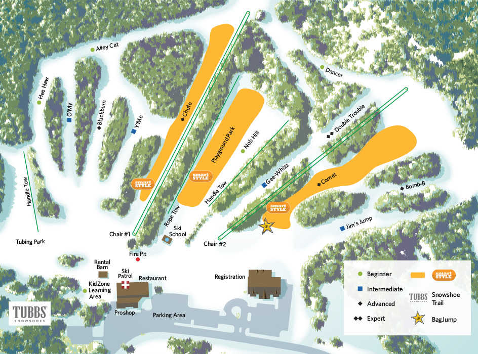 click for trail map - Christmas Mountain Resort